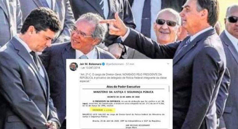 Bolsonaro manda Indireta para Sergio Moro