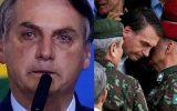 Desesperado Bolonaro chora pedia ajuda a militares