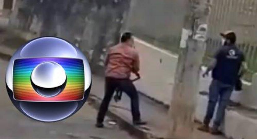 Bolsonarista enfurecido agride cinegrafista da Globo
