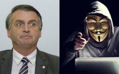 Grupo Anonymous ameaça Bolsonaro