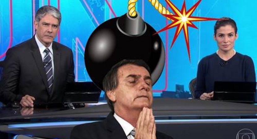 Jornal Nacional prepara uma Bomba contra Bolsonaro