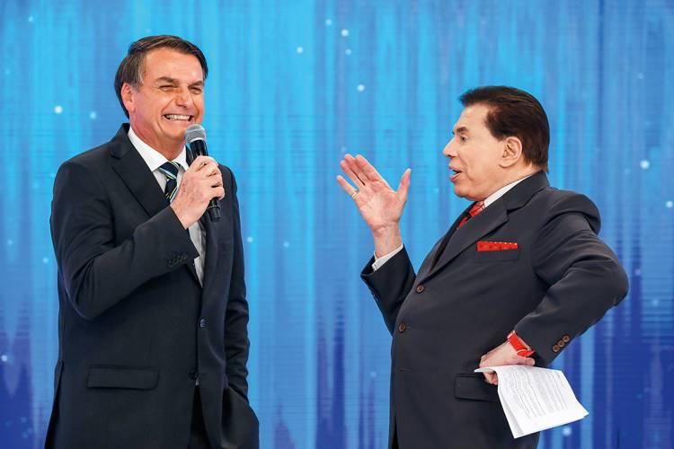 Silvio Santos transmite reunião de Bolsonaro no SBT