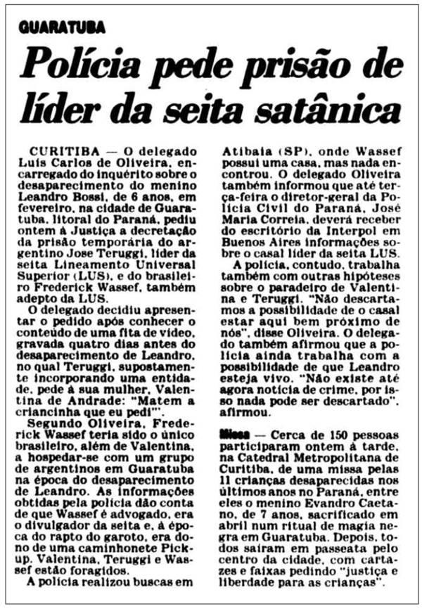 Advogado de Bolsonaro participava de seita satânica