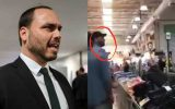 Carlos Bolsonaro toma esculacho em supermercado