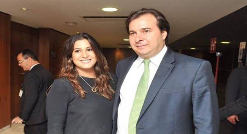 Descobriram que filha de Rodrigo Maia trabalha na CNN Brasil