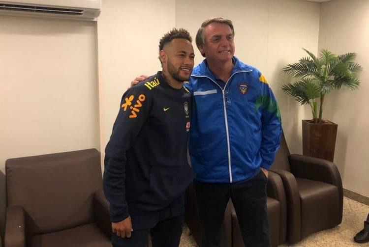 Neymar anuncia que está fechado com Bolsonaro