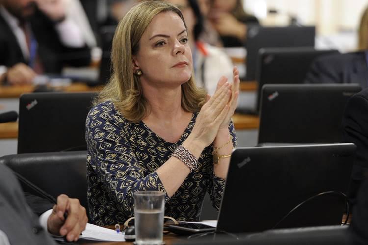 Presidente do PT Gleisi Hoffmann