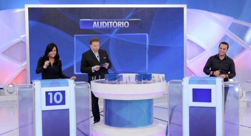 Programa Silvio Santos recebe Gretchen