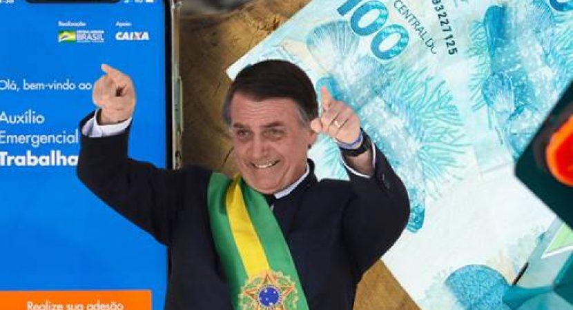Em busca de reeleição Bolsonaro pode estender auxilio emergencial