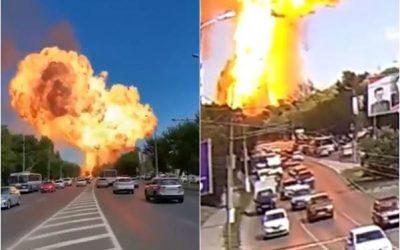 Explosão na Russia em posto de gasolina