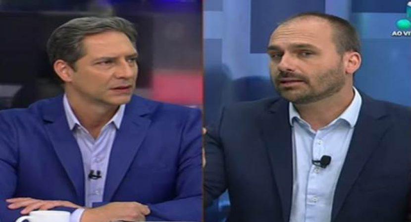 Lacombe entrevista filho de Bolsonaro