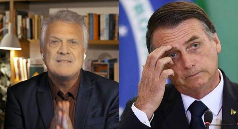 Pedro Bial chama Bolsonaro de Acéfalo