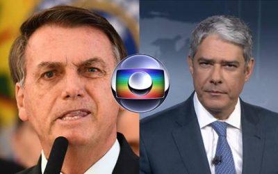 Bolsonaro chama William Bonner sem vergonha