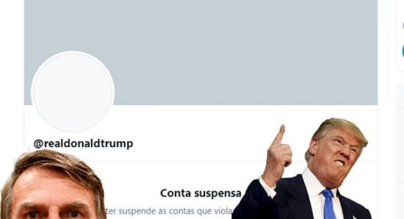 Twitter tira do ar permanentemente conta de Trump
