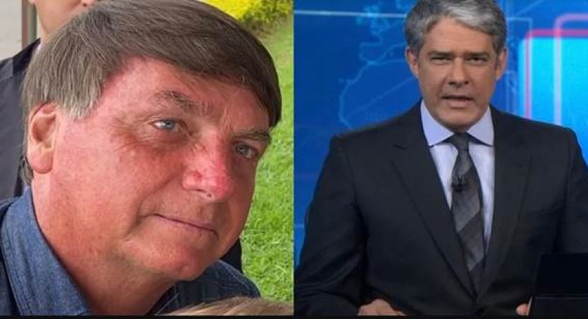 William Bonner zomba da cara de Bolsonaro no Jornal Nacional