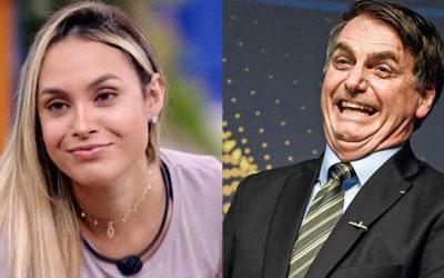 Sarah do BBB admite apoio a Bolsonaro