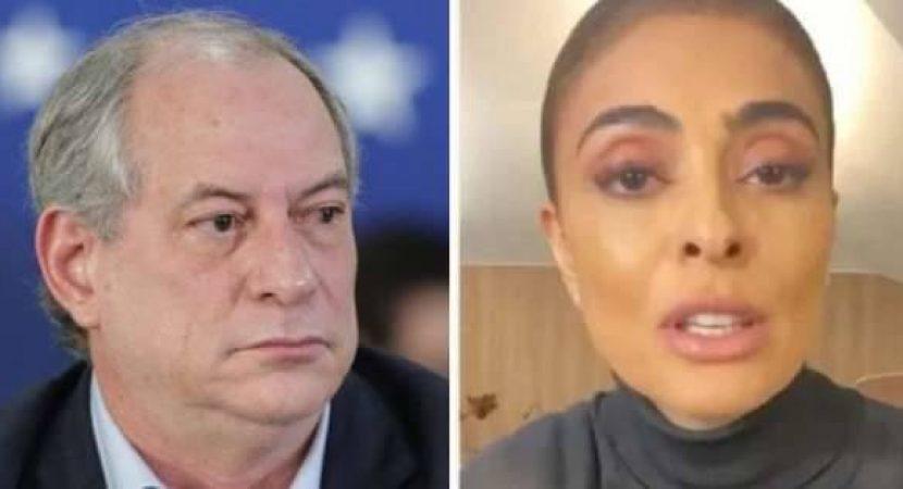 Ciro Gomes defende Juliana Paes