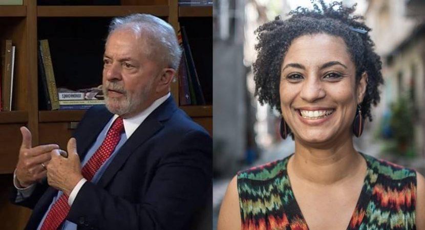 Lula criticou o estado por não descobrir ainda quem matou Marielle Franco