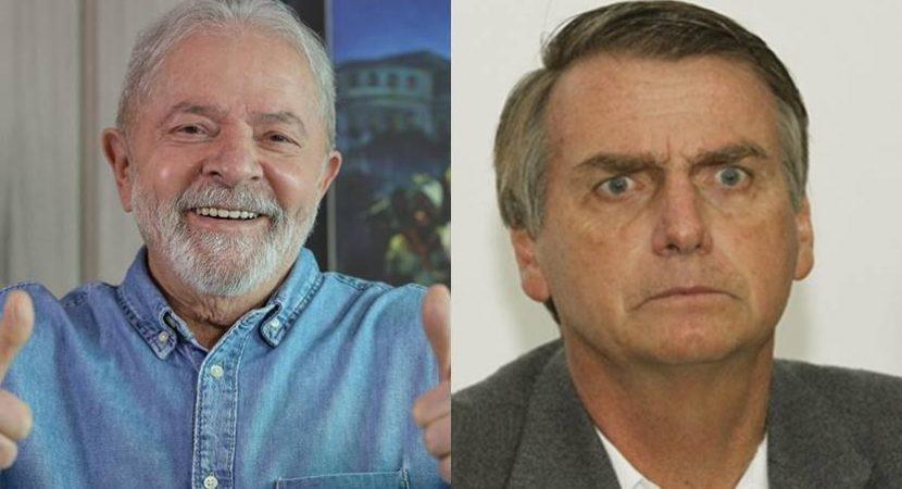 Lula vence mais uma pesquisa contra Bolsonaro